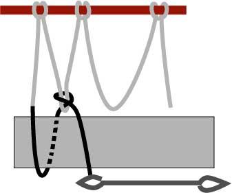 diamond netting, step two