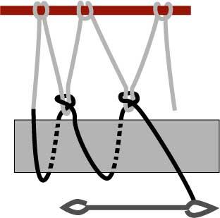 diamond netting, step three