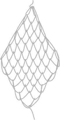 square mesh net, step ten