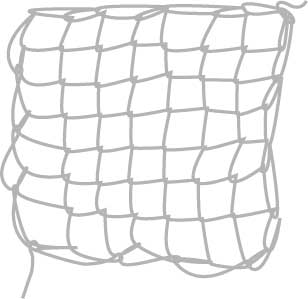 square mesh net, step eleven