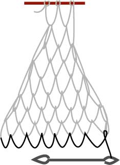 square mesh net, step four