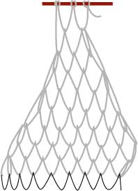 square mesh net, step five