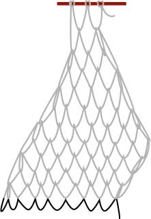 square mesh net, step six
