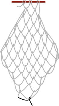 square mesh netting more than fish and hammocks