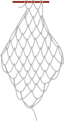 square mesh net, step eight