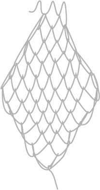 square mesh net, step nine